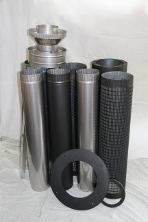 flue kit with mesh